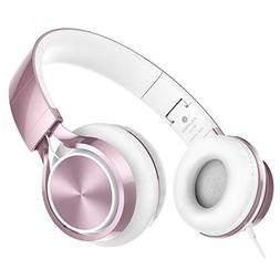 AILIHEN MS300 Wired Headphones, Stereo Foldable Headset for