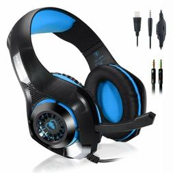 NEW Beexcellent LED Light Deluxe Gaming Headset Headphone Wi
