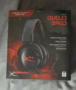 New Unsealed Kingston HyperX Cloud Core Black/Red Headband H