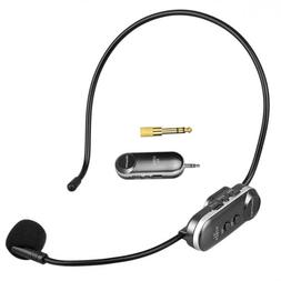 Wireless Headset Microphone Rechargeable Mic UHF with Receiv