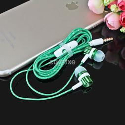 Nylon Wired 3.5mm In-ear Headset Stereo Earphone Headphone F