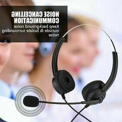 Office Headset Telephone Microphone Corded Phone Lossless So