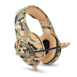 ONIKUMA K1 Stereo Bass Surround PC Gaming Headset for PS4 Ne