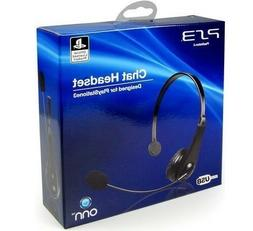 OPEN LOT OF 2 Onn Chat Headset Designed for PS3 USB