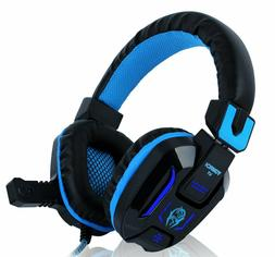 Over-ear Headphones Wired Stereo Bass Gaming Headset with Mi