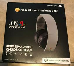 Sony PlayStation 4 Gold Wireless Stereo Headset 20th Anniver