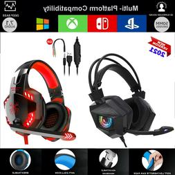 Pro Gaming Headset W/ Mic XBOX One PS4 PS5 PC Headphones Mic