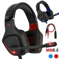 Pro Gaming Headset With LED For XBOX One PS5 Laptop Headphon