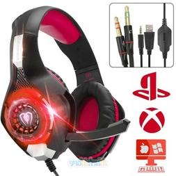 Pro Gaming Headset With Mic XBOX One/S Wireless PS4 Headphon