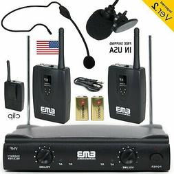 Professional Wireless Microphone System Headset / Lavalier 2