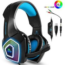 PS4 Accessories Headset,Xbox One Headphones,Gaming With LED
