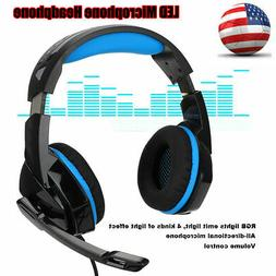For PS4 Gaming Headset Xbox One Headphone PC Earphone Stereo