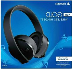 Sony PS4 Gold Wireless Headset Black 7.1 Surround - NEW - Sa