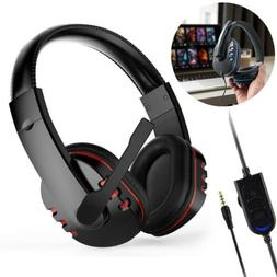 For PS4 Xbox One PC Mac 3.5mm Wired Gaming Headset Mic Stere
