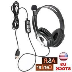 OVLENG Q2 USB Stereo Headphone with Mic Super Bass PC Laptop