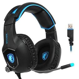 SADES R13 USB Gaming Headset 2017 New Update Gaming Headset