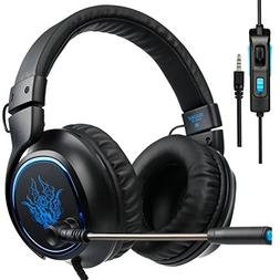 SADES R5 Over-Ear Stereo Noise-Reduction Base Gaming Headset