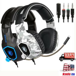 SADES SA-818 Gaming Headsets for PS4 Xbox One PC Stereo Surr