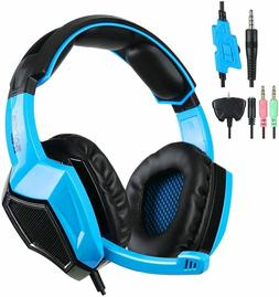 SADES SA-920 Stereo Over-Ear Wired Gaming Headphones, PS4 PC