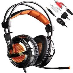 Sades SA-928 Lightweight Professional Gaming Headset Over Ea