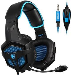 SADES New SA807S Over-Ear Stereo Gaming Headset Headband Hea