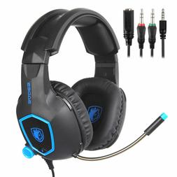 SADES SA818 Stereo Gaming Headsets Headphones for PS4 New Xb