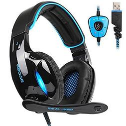 Sades SA902 PC Gaming Headset Wired USB 7.1 Channel Surround