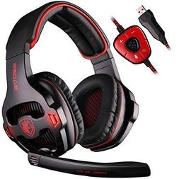 SADES SA903 Gaming Headset 7.1 Channel Gaming Headphone Surr