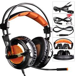 SADES SA928 3.5mm Stereo Sound Over The Ear PC Gaming Headse