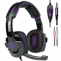 SADES Gaming Headset w/ Mic & Volume Control for PS4 / Xbox
