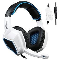 Sades SA920 3.5mm Wired Stereo Gaming Over Ear Headset with