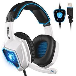 Sades Spirit Wolf 7.1 Stereo USB Gaming Headset Headphones w