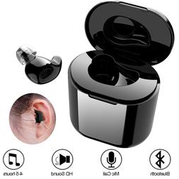 Small Mini Bluetooth Headset Earpiece with Microphone For iP