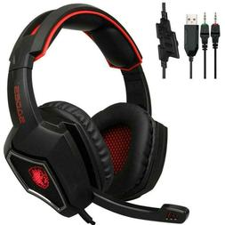 SADES Spirit Wolf 3.5mm Wired Stereo Gaming Headset W/ MIC F