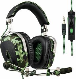 Stereo Bass Gaming Headset for PS4 New Xbox One w Mic With M