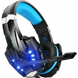 BENGOO Stereo Gaming Headset PS4 PC LED light Over Ear Headp