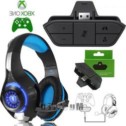 Stereo Headset Headphone Audio Game Adapter For Microsoft Xb