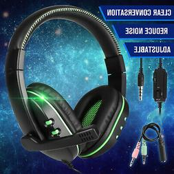 Stereo Over-ear Headphone Gaming Mic Headset For PS4/Nintend