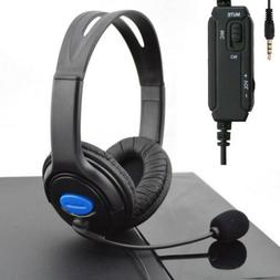 Stereo Wired Gaming Headsets Headphones with Mic for PS4 Son