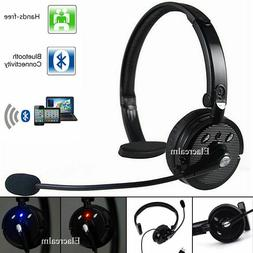 Truck Driver Wireless Headset Noise Cancelling Over-Head Blu