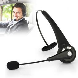 Wireless Headset Truck Driver Noise Cancelling Over-Head Blu