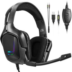 Gaming Headset Headphones with Noise Cancelling Mic Surround