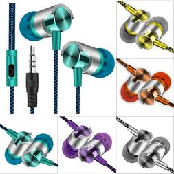 Universal 3.5mm Wired In-Ear Stereo Earbuds Earphone With Mi