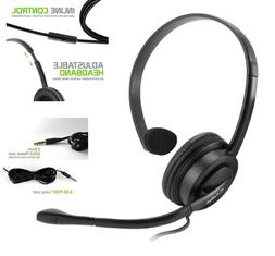 Universal Premium Mono 2.5mm Hands-Free Headset with Boom Mi