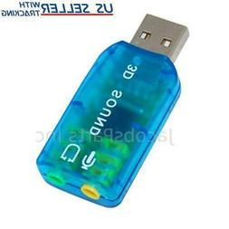 USB 2.0 External Audio Sound Card Adapter