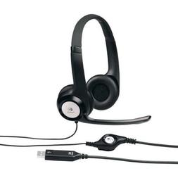 Logitech USB Computer Headset H390 with Noise Cancelling Mic