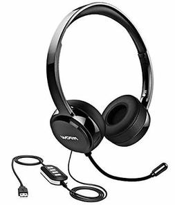 Mpow USB Headset / 3.5 MM Computer Headset with Microphone N