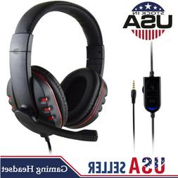 Wired 3.5mm Gaming Headset Headphone With Mic For PS4 PC Cel