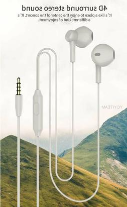 Wired AUX Audio Earphones Headphones Earbuds Bass Stereo MIC