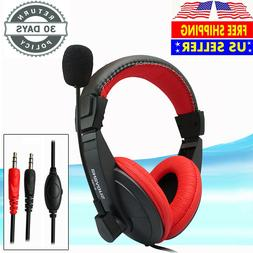 Wired Stereo Bass Surround Gaming Headset Headphone for PS4